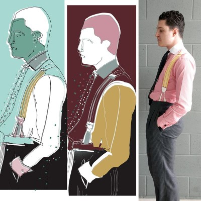 My illustrations of Joël Quadri, Ksenia Katysheva & Eve Chau, Central Saint Martins