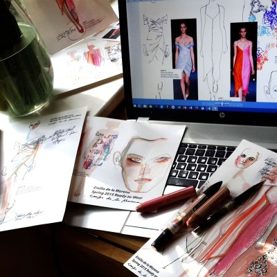 My Illustrations of Emilio De La Morena's spring 2015 RTW collection