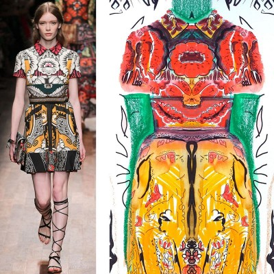 MY SECRET GORILLA - Thanks to Anne Christie ... ... My illustrations of Valentino Spring 2015 RTW – Runway