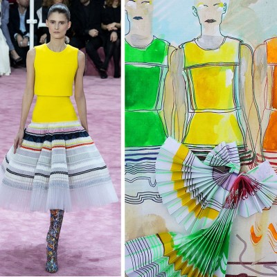 If you can't buy it, sketch it!  My illustrations from Dior Spring 2015 Couture show