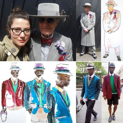 Let the street be your runway! My photos & illustration during LCM, London Collections Men, June 2015
