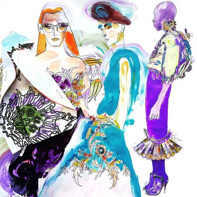 Fashion illustrations inspired by Iznik décor,  16/07/2015