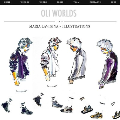 My fashion illustrations for www.oli-worlds.com 12/08/2015