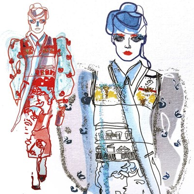 My illustrations of Marc Jacobs Spring/Summer 2016 collection
