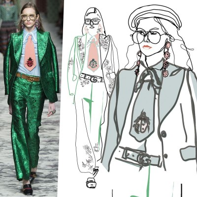 My illustrations of Gucci SS 2016 collection. 27/10/2015
