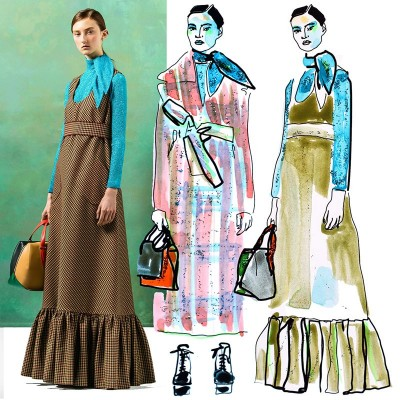 My illustrations of Delpozo pre fall 2016, 12/01/2016
