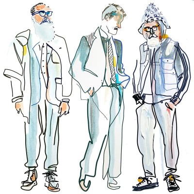 My new fashion illustration series inspired by the Engineered Garments Autumn/Winter 2016 - 17  Menswear collection | Mixed media: Illustrator & watercolure on paper. 05/02/2016