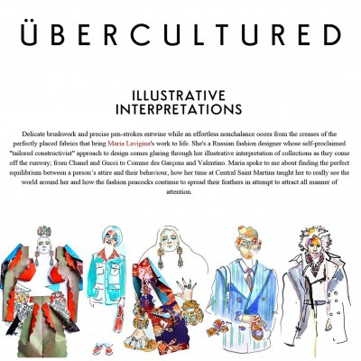 Illustrative interpretations | My interview and work on ÜBERCULTURED. A special thanks to Ailidh MacLean | March 2016