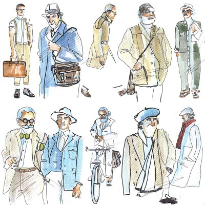 My illustrations inspired by The Sartorialist blog | April 2016