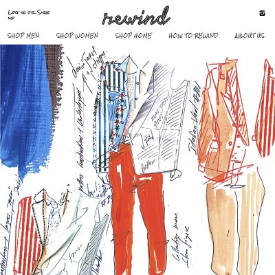 My fashion illustrations for Rewind consignment store