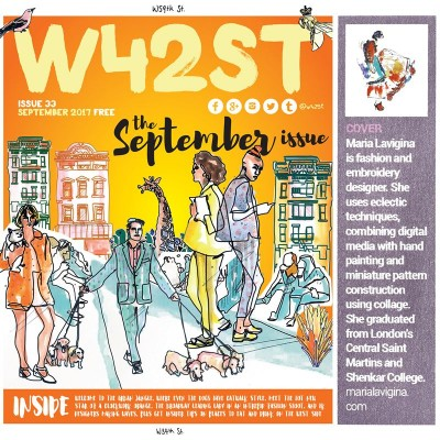 My illustration is on the cover of the @W42ST Manhattan's Magazine