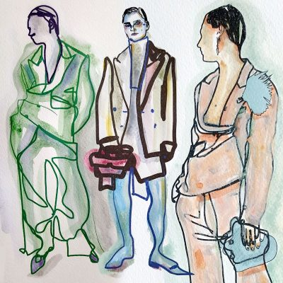 My fashion illustrations inspired by Hillier Bartley RESORT-2019   |   July 2018
